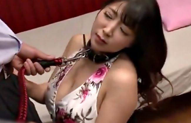 へへへ巨乳娘ご奉仕しろょ『優月まりな(^^♪』首輪まで付けられ完全奴隷と化したおネ~さん完全調教されちまったwwww