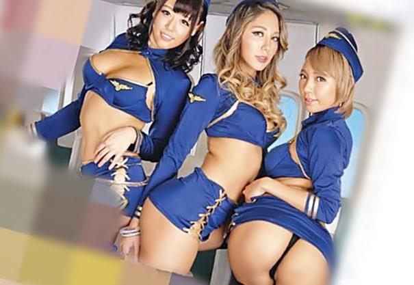 〔浜崎真緒/上原花恋♬〕ふふふ!中出しのサービス始めますわ…淫乱CAに極上膣コキが大人気航空会社が此処だぜWWWWWWWWWWWWW